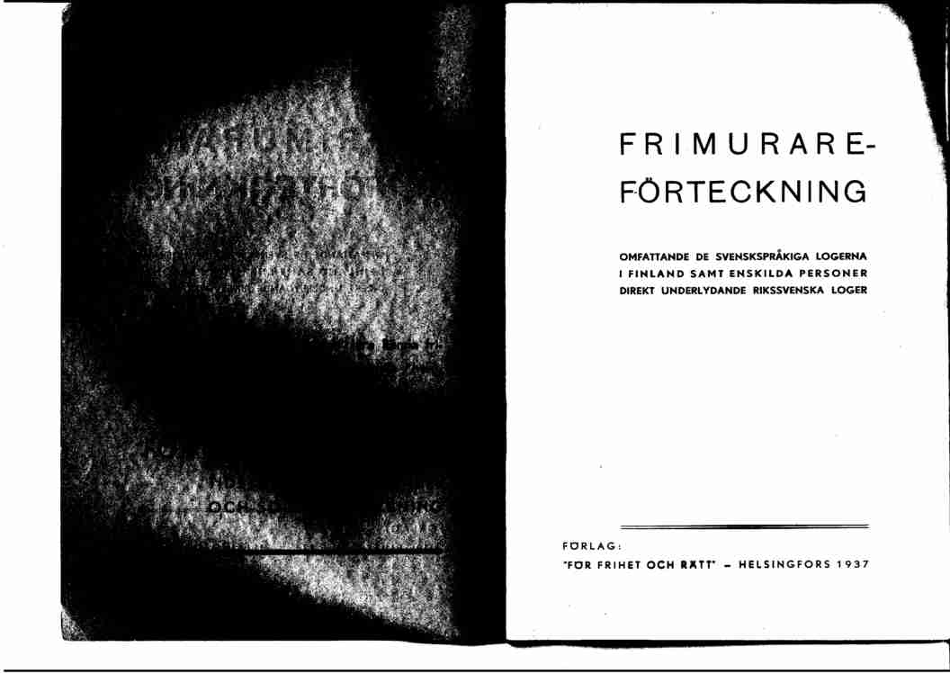 Frimurare-Forteckning