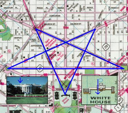 A pentagram designed into the streetplans of washington dc for Who designed the basic plan for washington dc